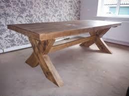 Oak Dining Table Crossed Leg Gloss Extending Dining Table Stone - Dining table leg designs