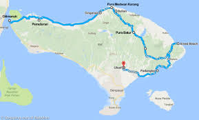 Map Of Bali Bali U2013 Stepping Out Of Babylon