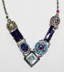 green stones necklace images Firefly necklace la dolce vita tanzanite blue purple green JPG