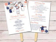 wedding fan template fan program template diy wedding program
