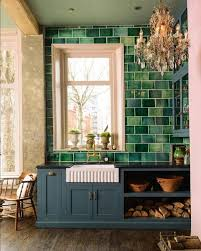 green tile backsplash kitchen 30 green kitchen decor ideas that inspire digsdigs