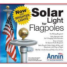 Nautical Code Flags Solar Light For In Ground Flagpoles Us Flag Warehouse
