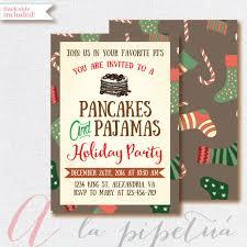 invitation pancakes and pajamas invitation