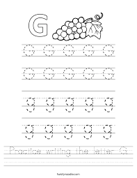 practice writing the letter g worksheet twisty noodle