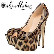 onlymaker brand extremely high heel sandals shoes women u0027s leopard