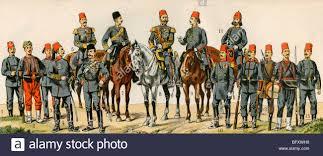 Ottoman Army Ww1 Officers Of The Ottoman Empire Circa 1900 Stock Photo