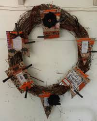 Black Halloween Wreath Halloween Banner Wreath The Creative Studio