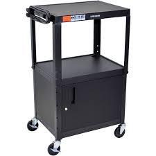 luxor kitchen cabinets luxor adjustable height steel a v cart with cabinet avj42c b u0026h
