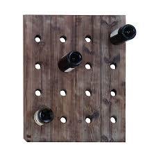 shop woodland imports 16 bottle wall mount wine rack at lowes com