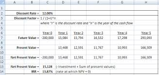 Discounted Flow Analysis Excel Template How To Calculate The Rate Of Irr