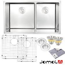 undermount double kitchen sink jomola kitchen sink stainless steel double bowl 16 gauge undermount