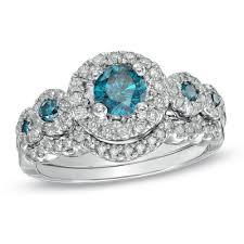 blue diamond wedding rings does anyone this zales blue diamond e ring weddingbee