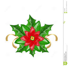 poinsettia flower decoration royalty free stock photos image