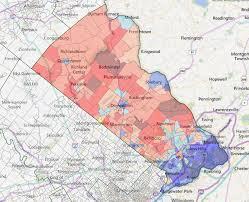 bucks county map a look at bucks pa s most critical swing county maps politicspa