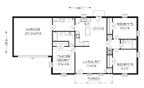j1410 3 bedroom 2 bath house plan