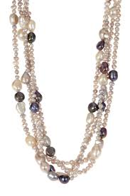freshwater pearl necklace pendant images Best 25 multi strand pearl necklace ideas long jpg