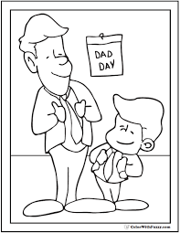 coloring page father u0027s day dad and son