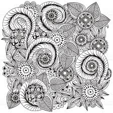 beautiful doodle art flowers floral pattern stock vector art