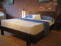 Plans For Platform Bed With Headboard by A Solid Wood Bed Frame Combines Traditional Med Art Home Design