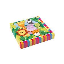 deco jungle bapteme lot de 20 serviettes jetables en papier jungle 33 x 33 cm 82100 1 jpg