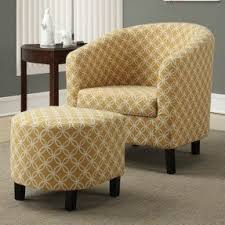 Living Room Chair With Ottoman Yellow Living Room Chairs Foter