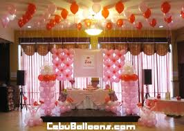 christening decorations girl s christening balloon decoration at s party place