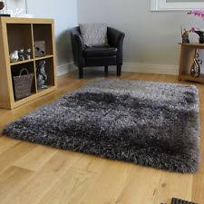 Solid Gray Area Rug by Large Area Rug Grey Shag Dark Carpet Indoor Casual Living Room
