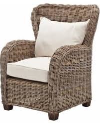 Wingback Wicker Chair Bargains On Nova Solo Wickerworks Queen Wingback Chair White