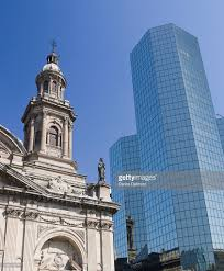 modern buildings metropalitan cathedral and modern buildings view from plaza de