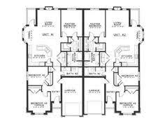 single story duplex designs floor plans one level duplex craftsman style floor plans duplex plan 1261 b