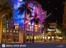 multi color rainbow lights equinox building fifth miami