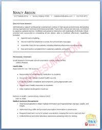 Medical Secretary Resume Sample Resume Medical Receptionist Resumes Design Medical