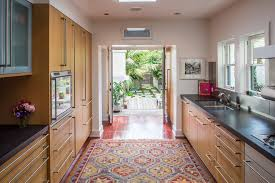 rugs in kitchen kitchen contemporary with area rug