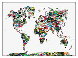Map Of The World Poster by Kids Maps Kids World Map Kids Animals Prints Childrens