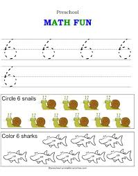 learning to count and write numbers tracing number 6 with this