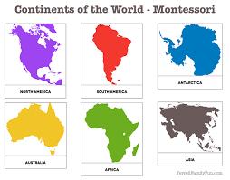 printable montessori curriculum continents of the world montessori printable montessori