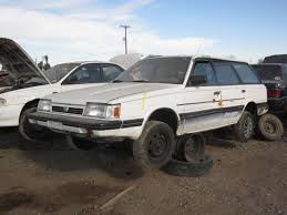 yellow subaru wagon junkyard find 1987 subaru gl wagon the truth about cars