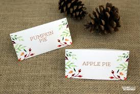thanksgiving place card tent card printables