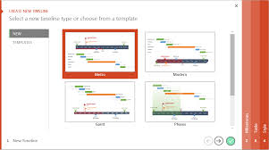 make it project timelines in powerpoint