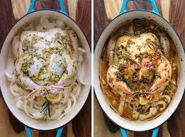 lemon garlic and rosemary whole roast chicken bowl of delicious