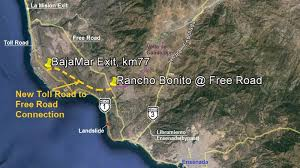 mexico toll road map highway 1 bajamar detour expat in baja mexico