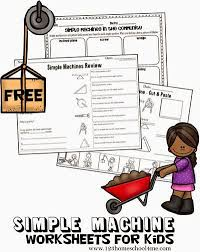 free simple machines worksheets for kids these are great for