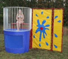 dunking booth rentals duvall s amusement rentals products