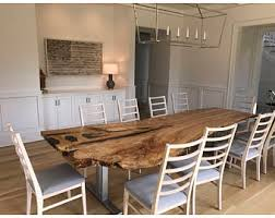 live edge single slab curly ash harvest table dining table