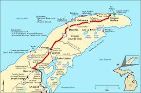 map of calumet michigan sentimental journey to calumet great lakes gazette