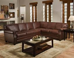 Italian Sectional Sofas by Cocoa Brown Top Grain Italian Leather Traditional Sectional Sofa
