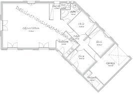 plan de maison plein pied gratuit 3 chambres plan maison plein pied gratuit 100m2 plain 7 construction 1