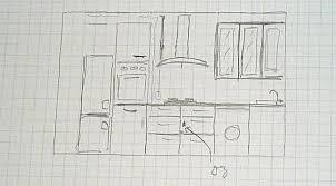 dessiner sa cuisine comment dessiner une cuisine photo de dessiner plan cuisine