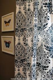Painting Fabric Curtains 187 Best Fabric Stencils U0026 Other Fun Paint Ideas Images On