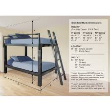 bunk bed measurements twin bunk bed measurements francis lofts aluminum free shipping 13